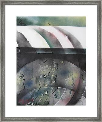 Glacial Sunset Framed Print by Andrea Noel Kroenig
