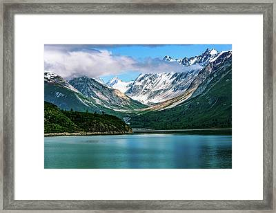 Glacial Valley Framed Print