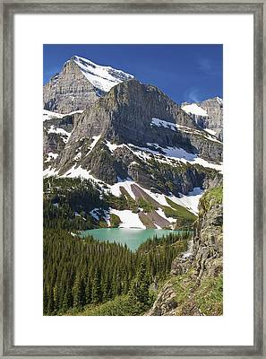 Glacier Backcountry Framed Print