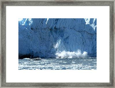 Glacier Calving Framed Print by Dave Clark