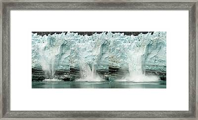 Glacier Calving Sequence 1 Framed Print by Robert Shard
