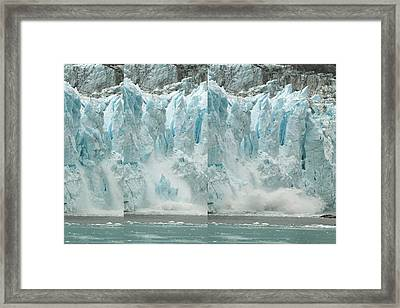 Glacier Calving Sequence 2 V2 Framed Print by Robert Shard