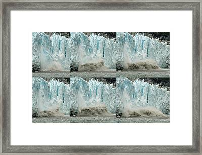 Glacier Calving Sequence 3 Framed Print by Robert Shard