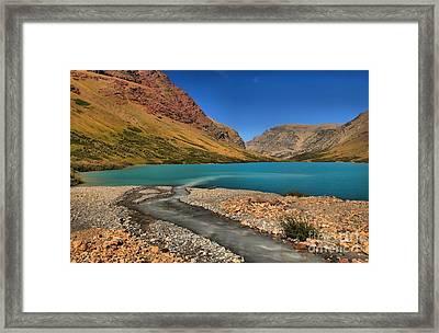 Glacier Cracker Lake Framed Print