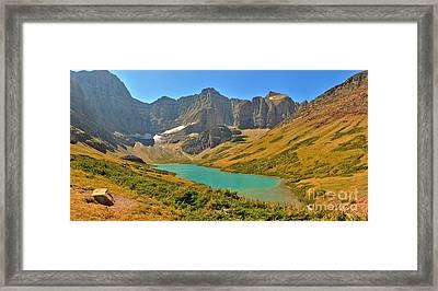Glacier Cracker Lake Panorama Framed Print