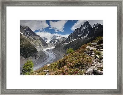 Glacier De La Mer De Glace Framed Print