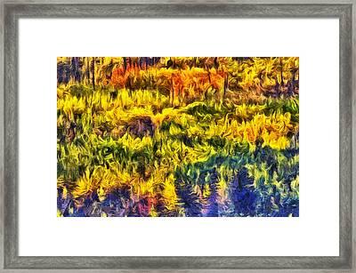 Glacier Fall Abstract Framed Print
