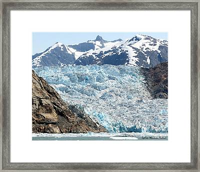 Glacier Flow 7 Framed Print