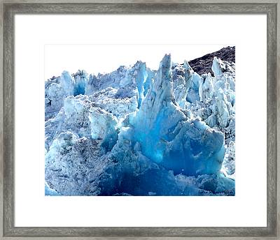 Glacier Ice 1 Framed Print