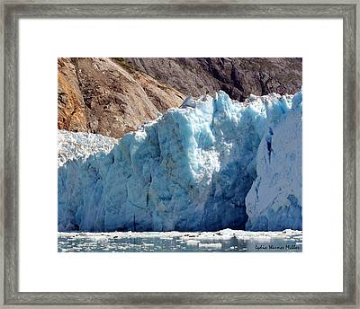 Glacier Ice 14 Framed Print