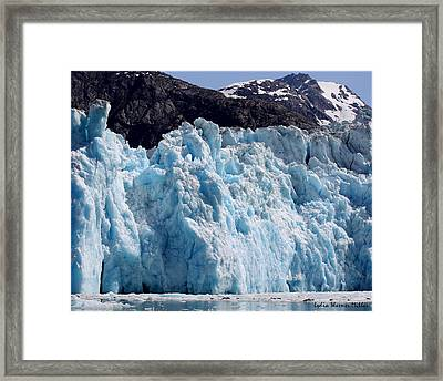 Glacier Ice 19 Framed Print