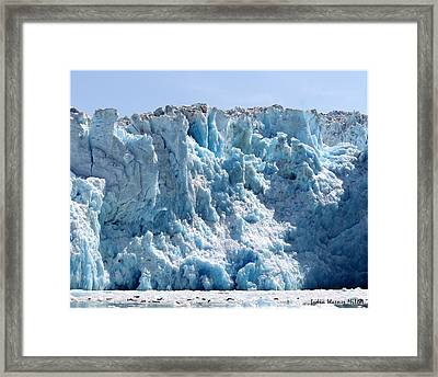 Glacier Ice 21 Framed Print