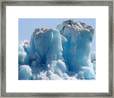 Glacier Ice 28 Framed Print
