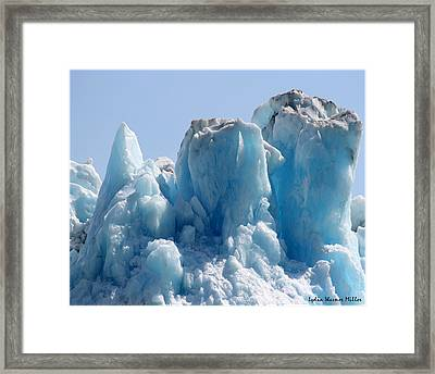 Glacier Ice 30 Framed Print
