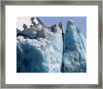 Glacier Ice 31 Framed Print