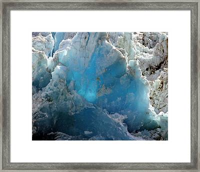 Glacier Ice 34 Framed Print