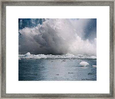 Glacier Ice 36 Framed Print