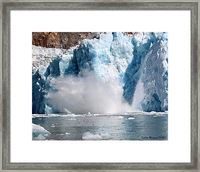 Glacier Ice 38 Framed Print