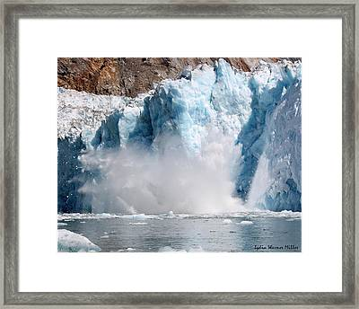 Glacier Ice 39 Framed Print