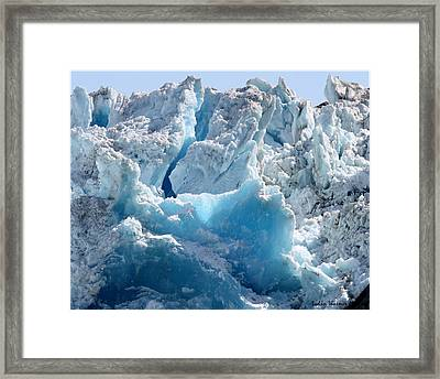 Glacier Ice 41 Framed Print
