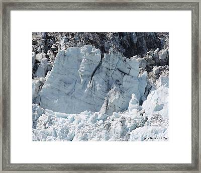Glacier Ice 49 Framed Print