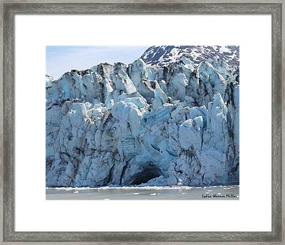 Glacier Ice 50 Framed Print