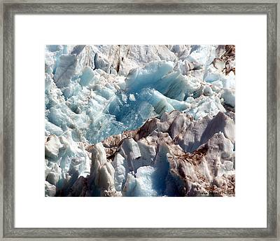 Glacier Ice 54 Framed Print