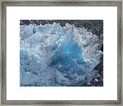 Glacier Ice 6 Framed Print