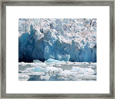 Glacier Ice 8 Framed Print