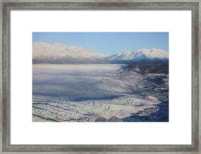 Framed Print featuring the photograph Glacier In Alaska by Jingjits Photography