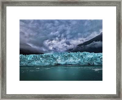 Framed Print featuring the photograph Glacier by Lucian Capellaro