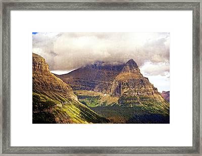 Glacier Mountain Landscape Framed Print