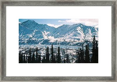 Framed Print featuring the photograph Glacier  Mountains by Judyann Matthews