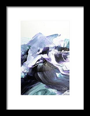Brush Stroke Framed Prints