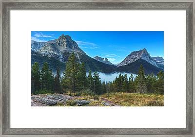 Glacier Mountains Framed Print by Stuart Deacon