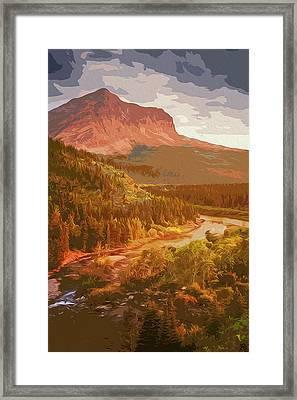 Glacier National Park In Autumn Framed Print