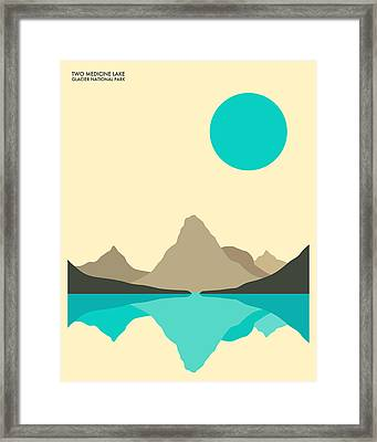 Glacier National Park Framed Print by Jazzberry Blue