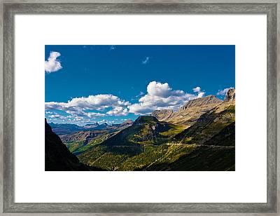 Glacier National Park Framed Print by Jon Woodbury