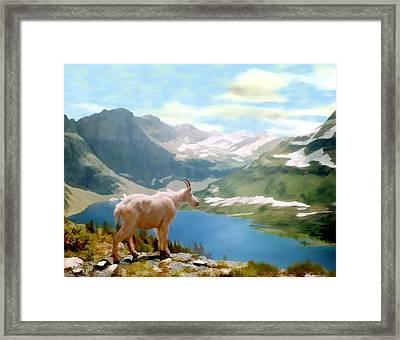 Glacier National Park Framed Print by Kurt Van Wagner