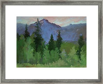 Glacier Nat'l Park - Plein Air -  Rising Wolf Ranch Framed Print