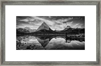 Glacier Park Panorama Framed Print