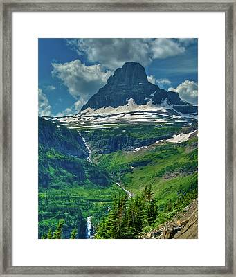 Glacier Park Valley View Framed Print