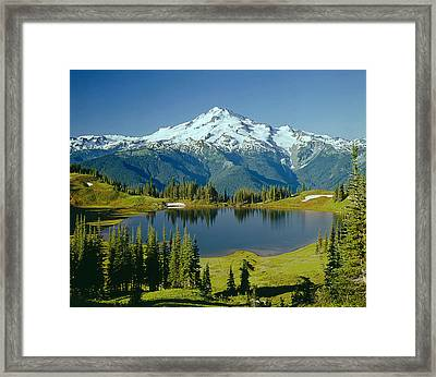 1m4422-glacier Peak, Wa  Framed Print