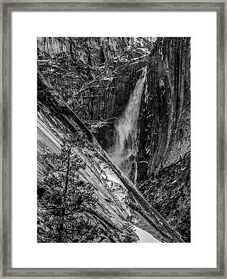Glacier Point And Yosemite Falls Framed Print