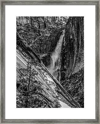 Glacier Point And Yosemite Falls Framed Print