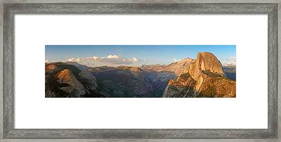 Glacier Point Panorama Framed Print