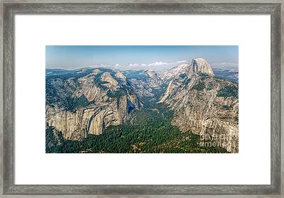 Glacier Point Yosemite Np Framed Print by Daniel Heine