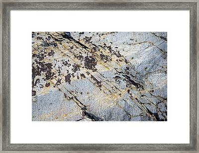 Framed Print featuring the photograph Glacier-polished Metamorphic Rock by Alexander Kunz