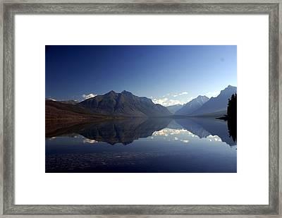 Glacier Reflections 2 Framed Print by Marty Koch