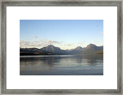 Glacier Reflections 3 Framed Print by Marty Koch